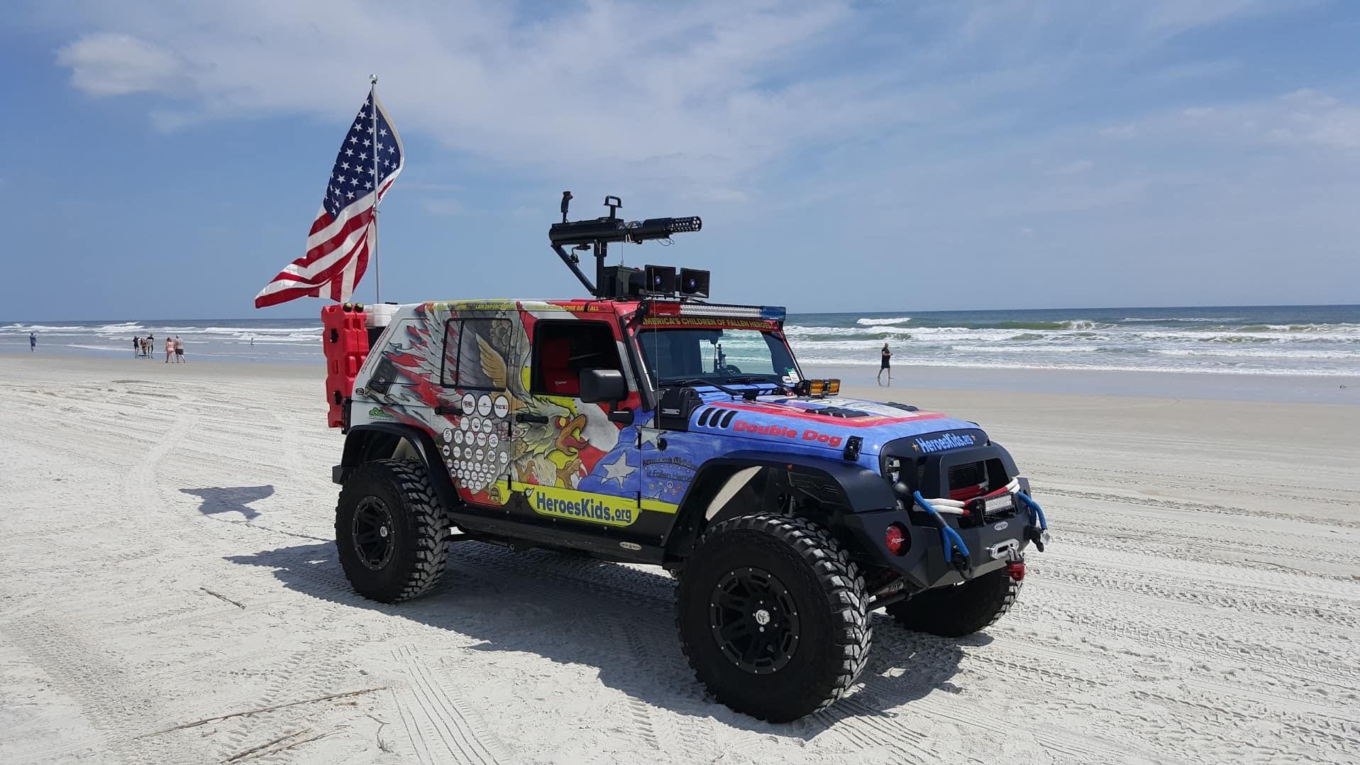 Double Dog on the Beach in Daytona